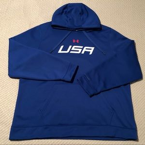 Under Armour Storm USA Blue Athletic Hoodie